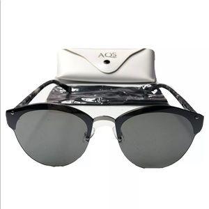AQS Aquaswiss Rimless Mirrored Sunglasses Silver